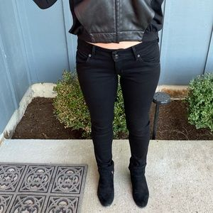 Hudson Jeans Black Sz 25 skinny flap pocket